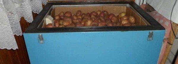 Ящик для хранения овощей на балконе.