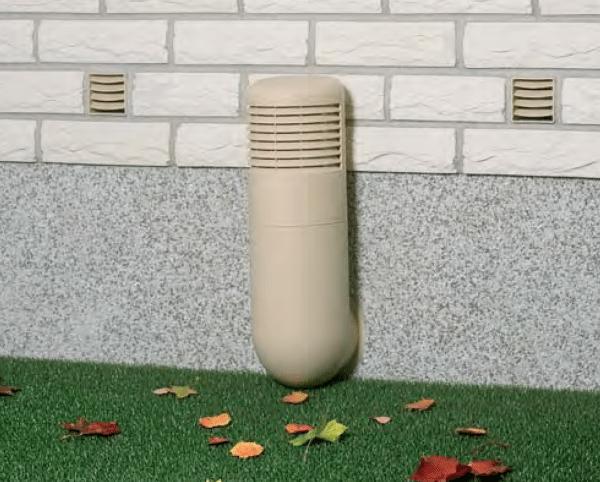 Забор воздуха вентиляционной трубы.
