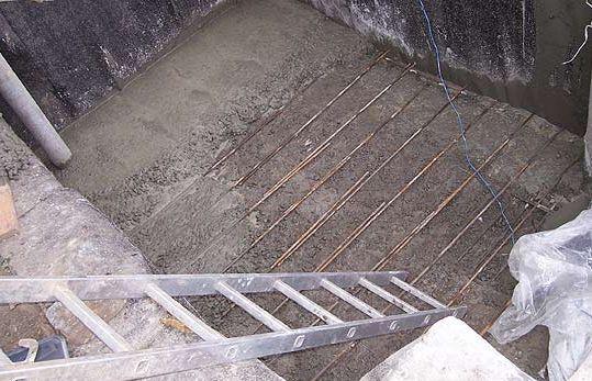 Заливка бетонного пола.